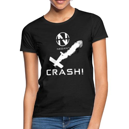CRASH! + WE GO DOWN IN FLAMES! - Dame-T-shirt