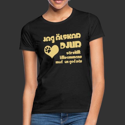 Jag älskar djur - T-shirt dam