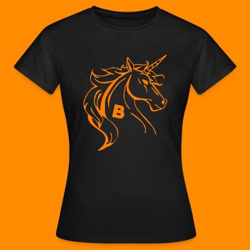 orange biodusty unicorn shirt - Vrouwen T-shirt