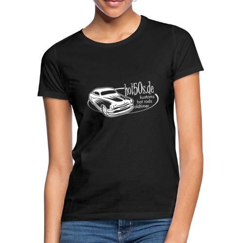 hot50s Logo weiss - Frauen T-Shirt