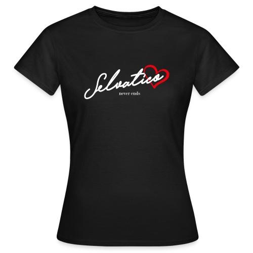 Selvatico_cuore_b - Maglietta da donna