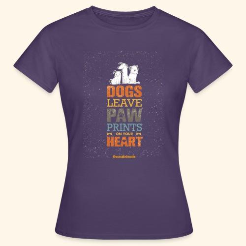 PAWPRINTONHEART - Maglietta da donna