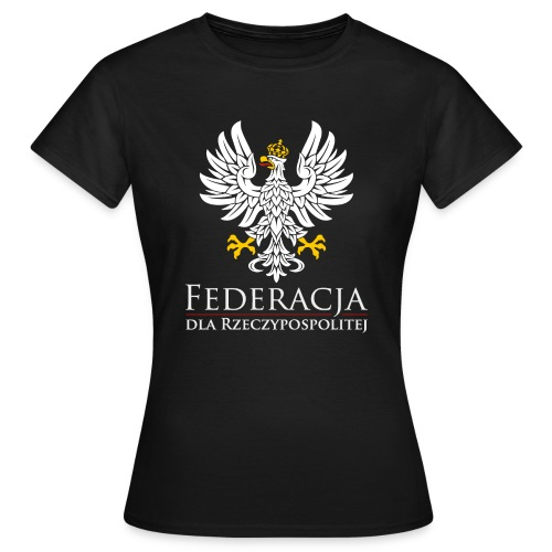 fdr biały napis - Koszulka damska