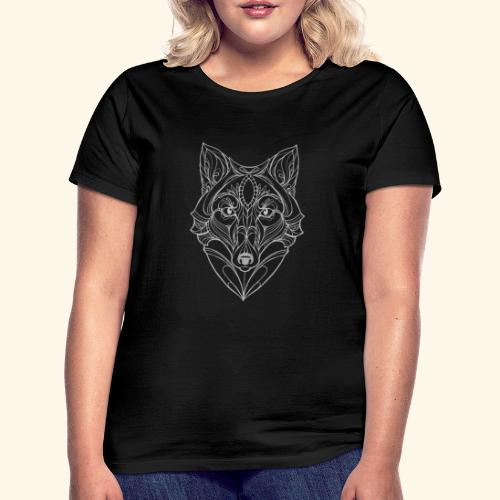 Wolf by ELKAN for black designs - Dame-T-shirt