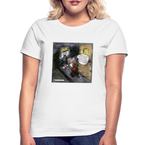 Cartoon SmartZone Ende der Ausbaustrecke - Frauen T-Shirt