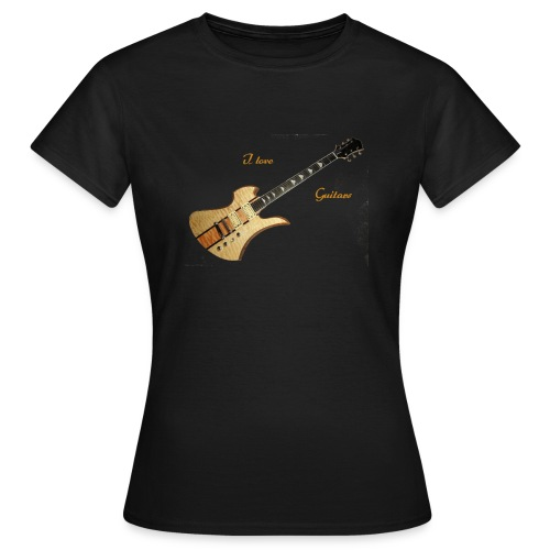 I love Guitars - Frauen T-Shirt