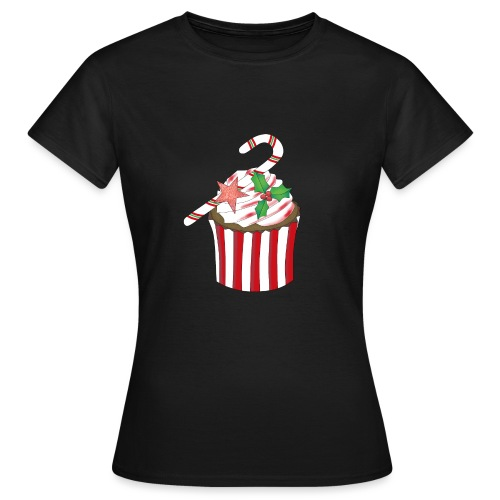 Christmas cupcake - Women's T-Shirt