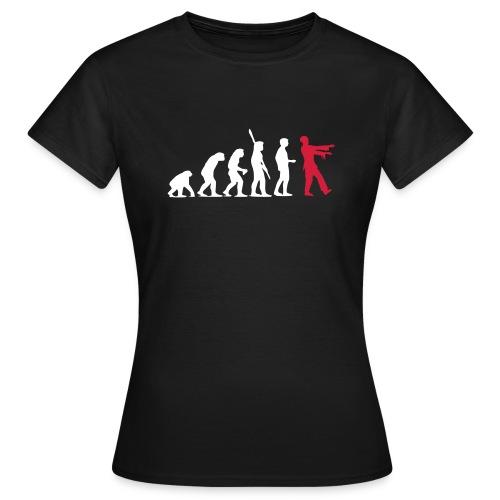 Zombie Evolution (zweifarbig) - Frauen T-Shirt