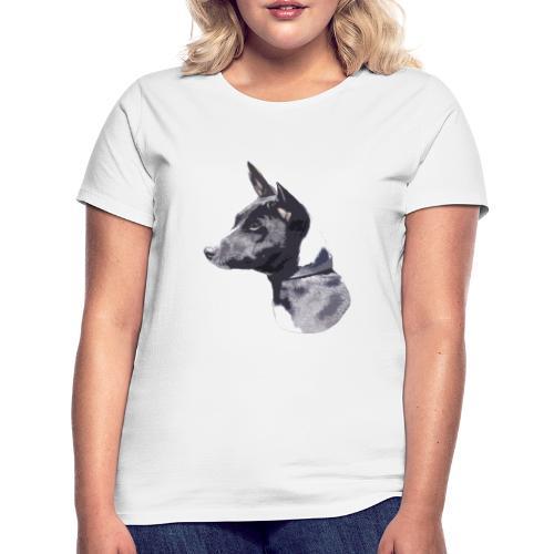basenji black - Dame-T-shirt