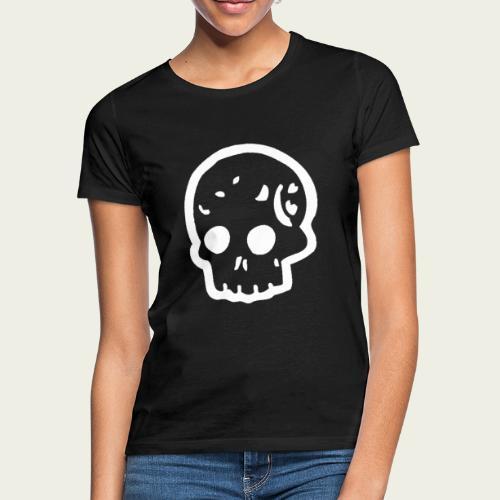 Skull logo whi - Camiseta mujer