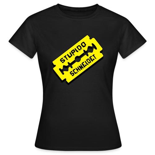 Stupido schneidet Logo - Frauen T-Shirt