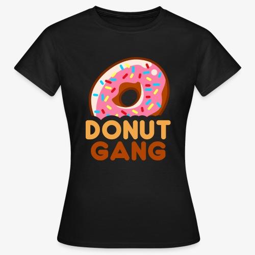 Donut Gang - Logo (med tekst) - Dame-T-shirt