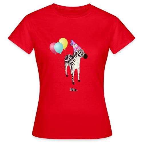 Annoyed Birthday Zebra - Women's T-Shirt