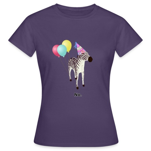 Annoyed Birthday Zebra - Women's T-Shirt