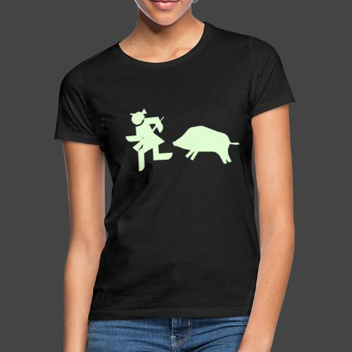 Jägerin vs Bache - Frauen T-Shirt