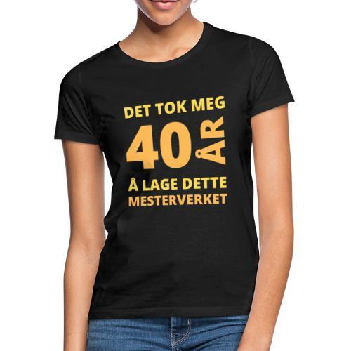 bursdagsgave til 40 åring - T-skjorte for kvinner