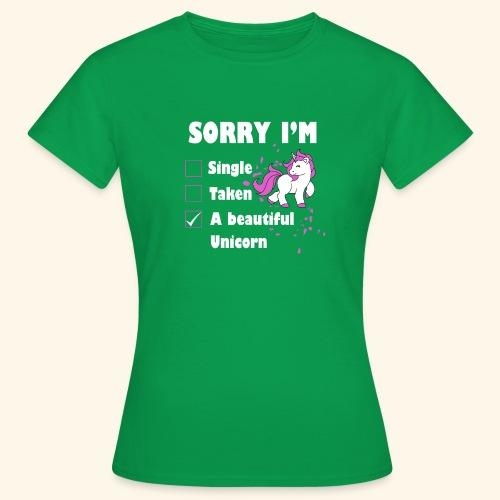 lustiges Beziehung Einhorn T-Shirt - Frauen T-Shirt