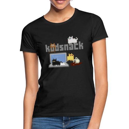 Kodsnack katter - mörk - T-shirt dam