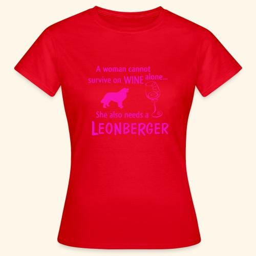 Wine&Leonberger - T-shirt dam