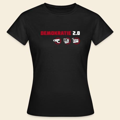 demokratie 20 dunkel - Frauen T-Shirt