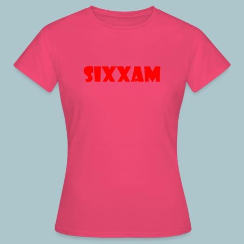 sixxam logo rood - Vrouwen T-shirt