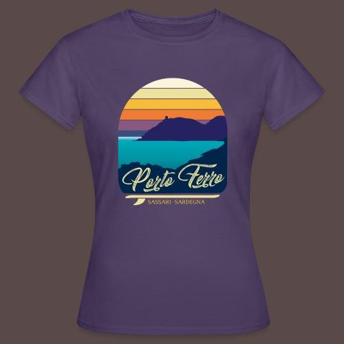 Porto Ferro - Vintage travel sunset - Maglietta da donna