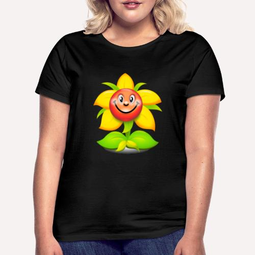 Smiling Face Happy Flower - Women's T-Shirt