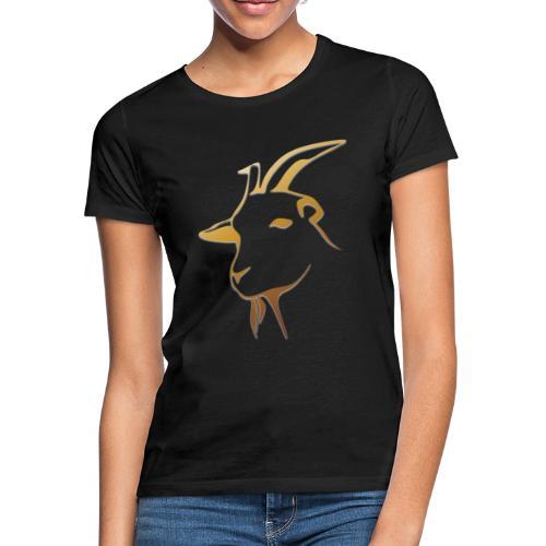 Gold Ziege - Frauen T-Shirt