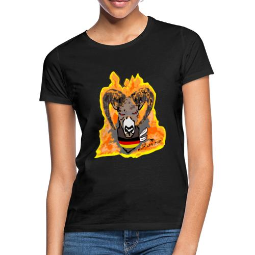 Mufflon in Flammen Germ - Frauen T-Shirt
