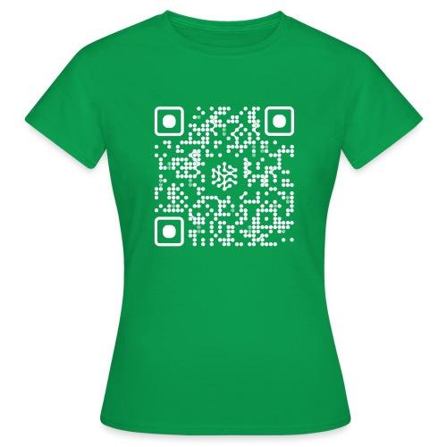 QR Safenetforum White - Women's T-Shirt