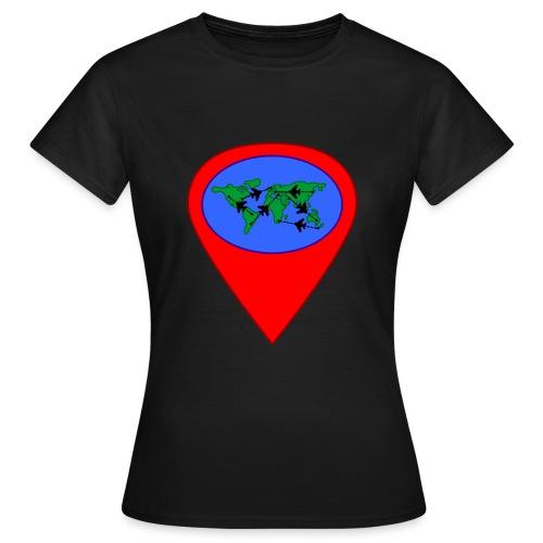 map - Camiseta mujer