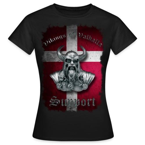 Dannebrog png - Dame-T-shirt