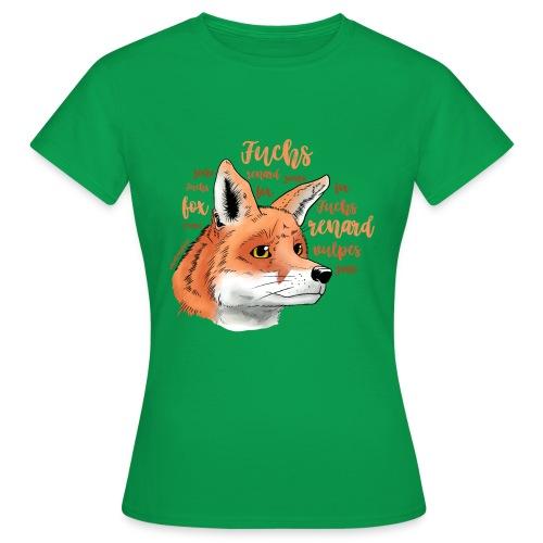 Fuchsportrait mit Lettering - Frauen T-Shirt