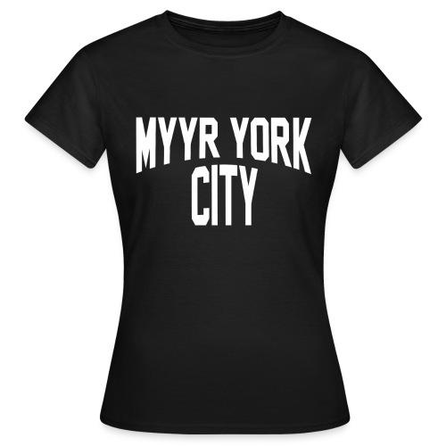 MYYR YORK CITY WHITE - Naisten t-paita