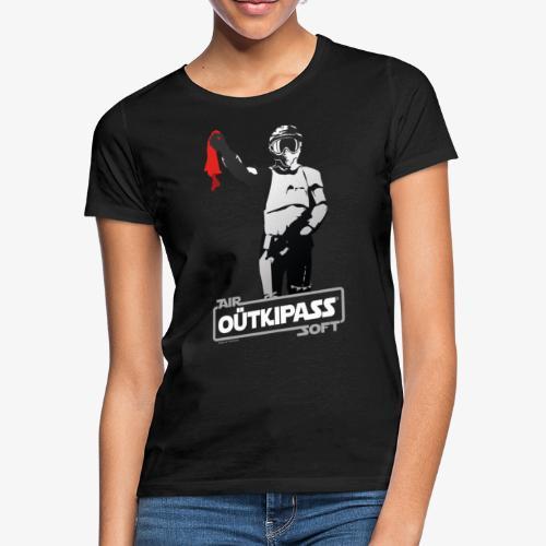 T shirt Airsoft OUT qui passe Noir V2 - T-shirt Femme