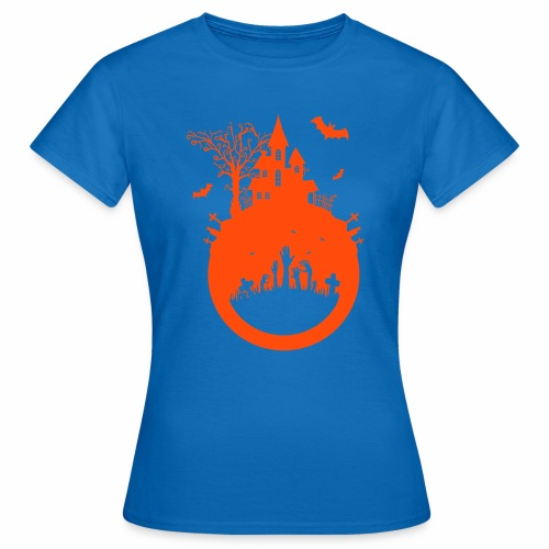 Halloween Design - Das Spukhaus - Frauen T-Shirt