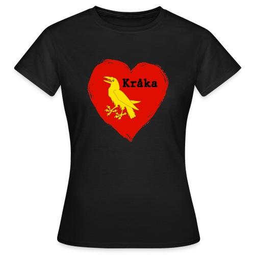 Kråka - T-skjorte for kvinner