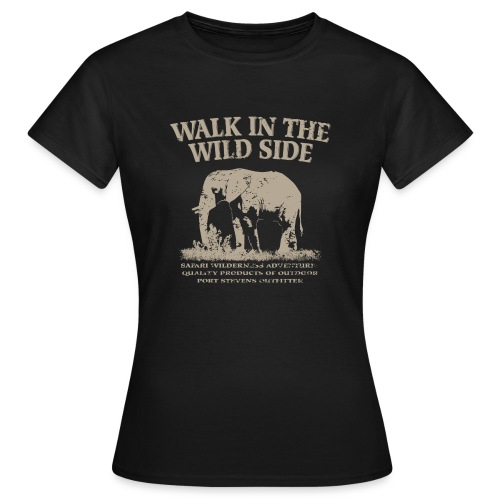 045 walk in the Elefant beige png - Frauen T-Shirt