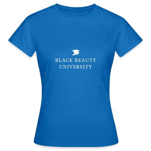 BLACK BEAUTY UNIVERSITY LOGO BLANC - T-shirt Femme