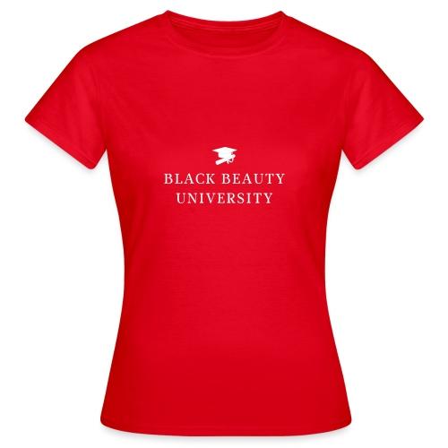 BLACK BEAUTY UNIVERSITY LOGO BLANC - T-shirt Femme