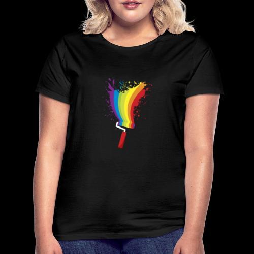 Paint roller Vivid Color - Frauen T-Shirt
