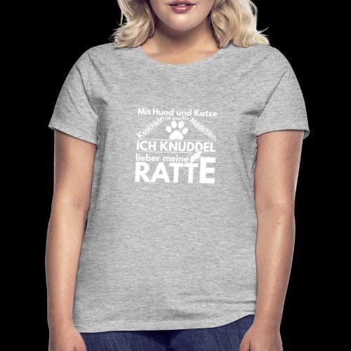 Mit Hund und Katze Kuscheln ist was for Madchen - Frauen T-Shirt