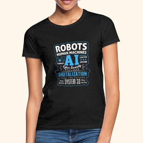 Robots Human Machine Ai Cyber Security - Maglietta da donna