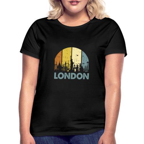 Vintage London Souvenir - Retro Skyline London - Frauen T-Shirt
