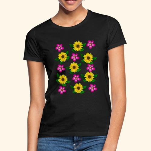 Sonnenblumen, pinke Blumen, floral, Blüten, pink - Frauen T-Shirt