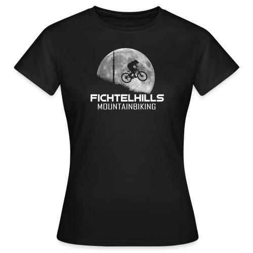 fichtelhills mountainbiking night ride fullmoon - Frauen T-Shirt