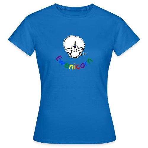 Ewenicorn (schwarze Ausgabe Regenbogentext) - Frauen T-Shirt