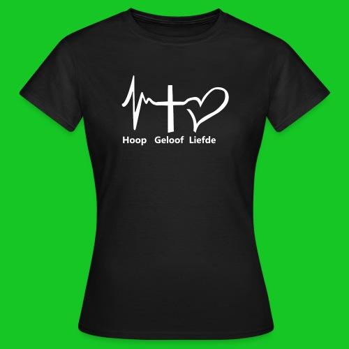 Hoop geloof en liefde - Vrouwen T-shirt