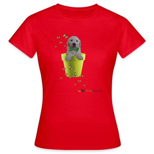 Cucciolo Golden Retriever in-vaso dalle farfalle - Maglietta da donna
