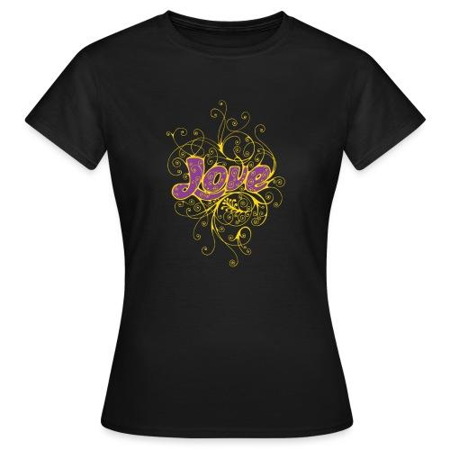 LOVE VIOLA CON DECORI - Maglietta da donna